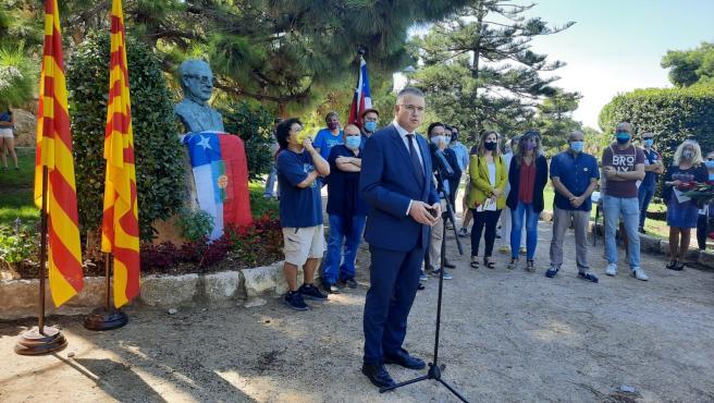 El alcalde de Tarragona, Pau Ricomà, encabeza un homenaje a Salvador Allende en el aniversario de su muerte, el 11/9/2020