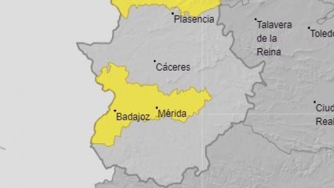 Avisos por calor en Extremadura.