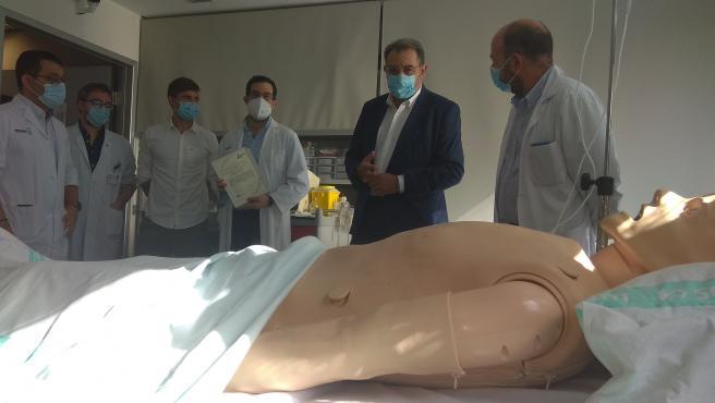 El consejero de Sanidad en el hospital de Ciudad Real.