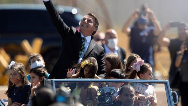 Imagen de archivo de Jair Bolsonaro, participando de una ceremonia oficial.