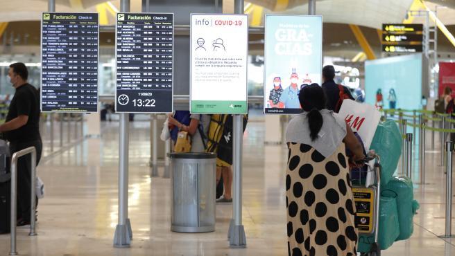 Terminal T4 del aeropuerto Adolfo Suárez Madrid-Barajas, en Madrid.