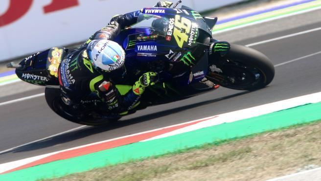 Valentino Rossi, en el circuito de Misano