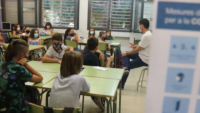 Una clase de la escuela Catalònia de Barcelona.