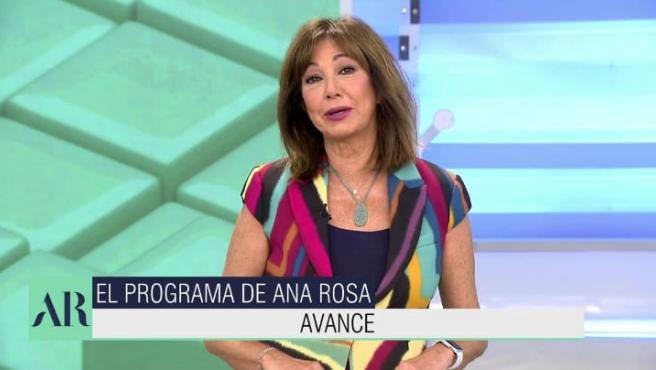 Ana Rosa Quintana critica a Bildu en el discurso inicial de su programa.