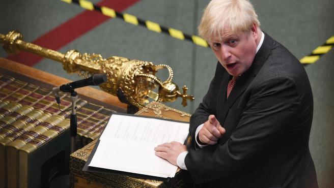 Boris Johnson, en la Cámara de los Comunes.