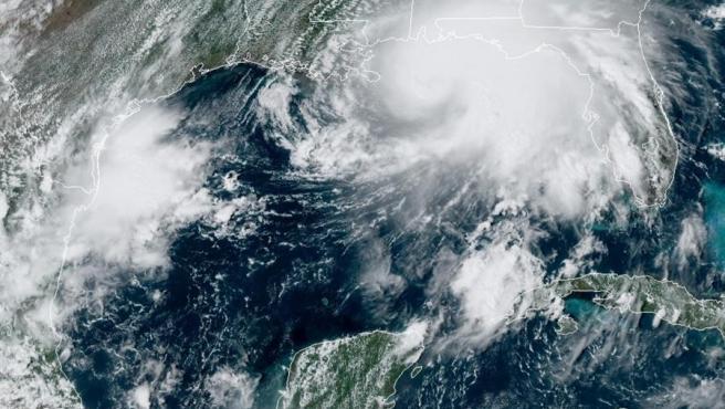 Localización del huracán Sally en el golfo de México a las 15:21 hora local (19:21 GMT) del lunes 14 de septiembre.