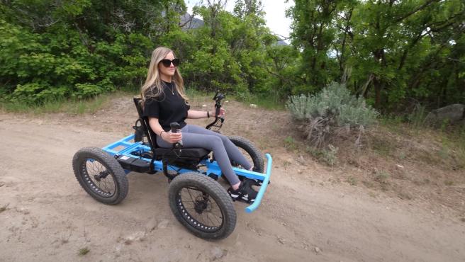 La 'no silla de ruedas' creada por un 'youtuber'.