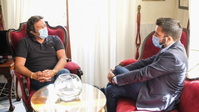 El alcalde de Cádiz y el delegado de Zona Franca en una reunión reciente