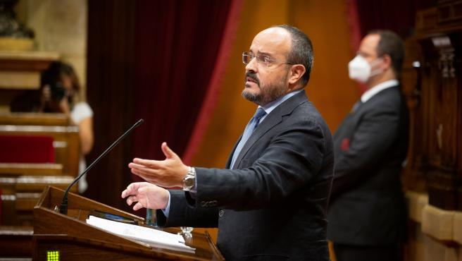 El presidente del PP catalán, Alejandro Fernández