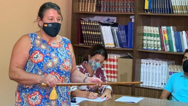 Imagen de la nueva alcaldesa de la localidad palentina de Amusco, María Victoria Carracedo.