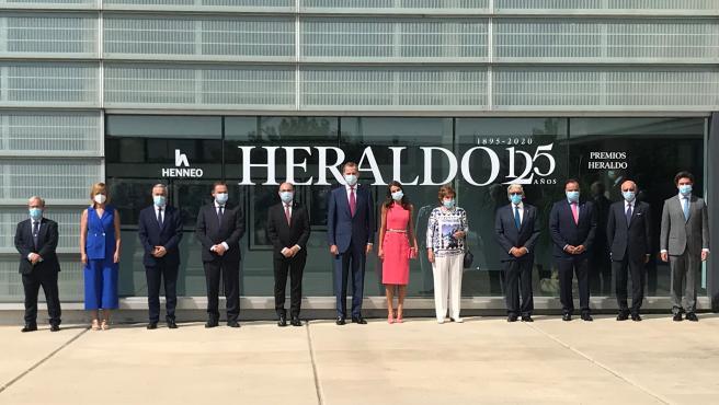 Los Reyes destacan la 'integridad profesional' de Heraldo de Aragón y su amor a España