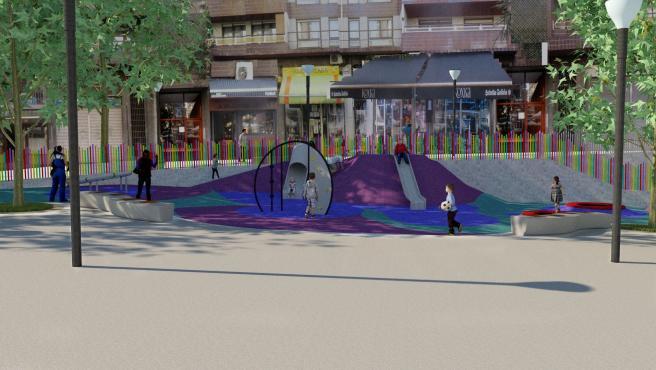 Proyecto de renovación en la plaza Músico Aranbarri de Bilbao