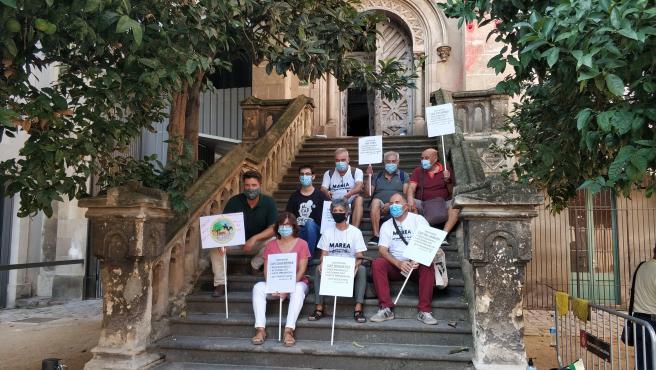 Representantes de las entidades vinculadas a la atención primaria Fòrum Català d'Atenció Primària (FoCAP), Rebel·lió Atenció Primària y la Marea Blanca de Catalunya