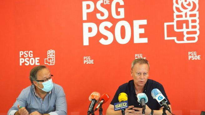 Rueda de prensa del PSOE en Ourense.