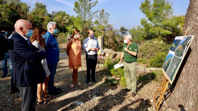 Visita de la presidenta del Govern, Francina Armengol, y del conseller de Medio Ambiente, Miquel Mir, a las zonas afectadas por el temporal del 29 de agosto.