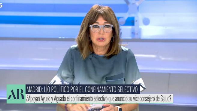Ana Rosa Quintana habla de los días de descanso de Fernando Simón.