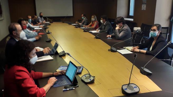 Reunión de la estrategia industrial de Asturias.