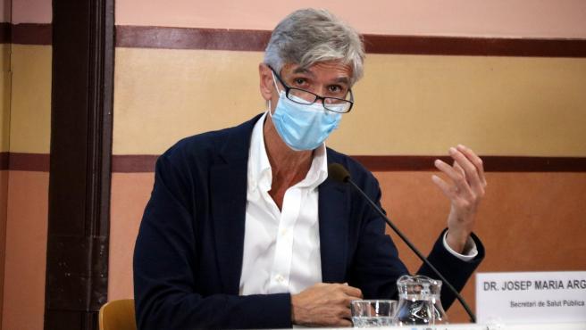 El secretario de Salud Pública de Cataluña, Josep Maria Argimon, en una rueda de prensa.