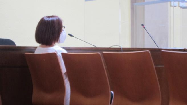 La acusada durante el juicio en la Audiencia de Jaén.