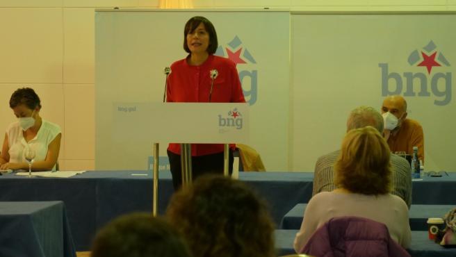 La portavoz de BNG, Ana Pontón, interviene ante el Consello Nacional del Bloque celebrado en Teo (A Coruña)