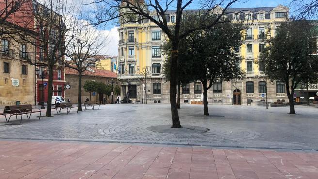 Plaza de Porlier, en Oviedo.