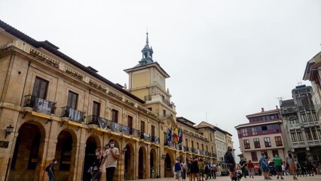 Ayuntamiento de Oviedo durante el verano de la pandamia del covid 19. Oviedo a 25 de agosto del 2020