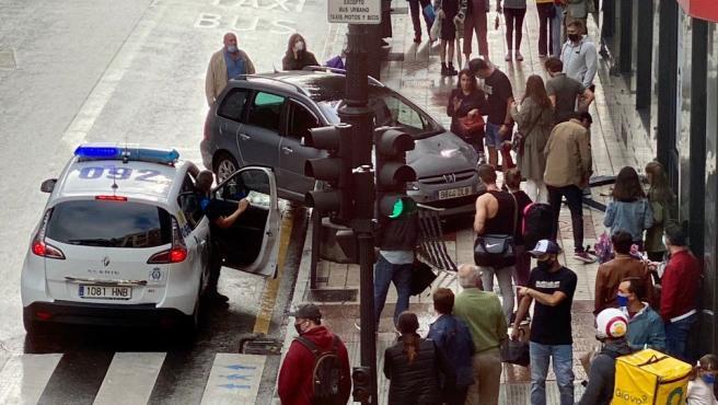 Accidente de tráfico en Oviedo.