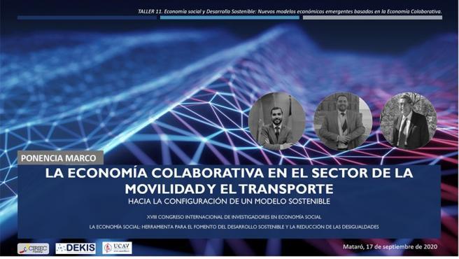Cartel de la ponencia en la que ha participado la UCAV.