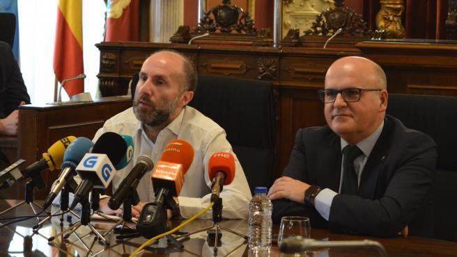 El alcalde de Ourense, Gonzalo Pérez Jácome, y el presidente de la Diputación de Ourense, José Manuel Baltar