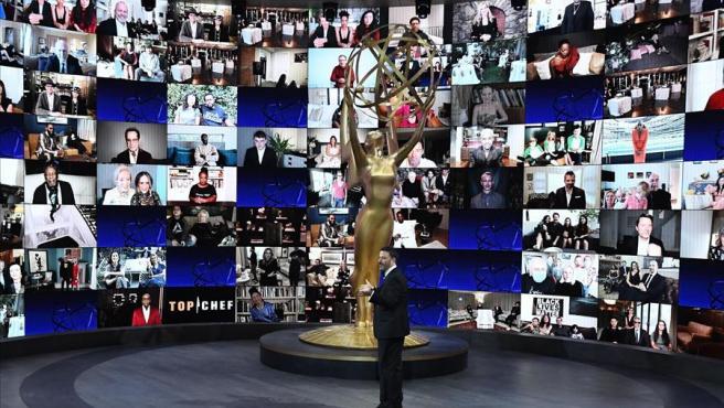 Jimmy Kimmel, durante la presentación de la gala virtual de la 72 edición de los premios Emmy.