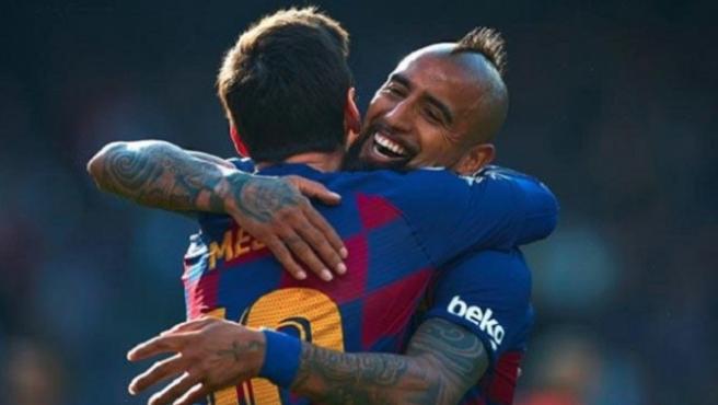 Messi y Arturo Vidal