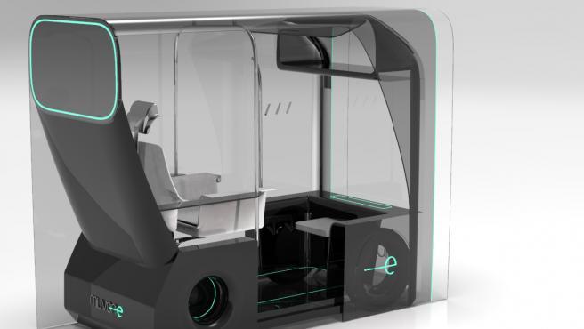 El diseño del taxi autónomo que ha ganado el 'New Designers'