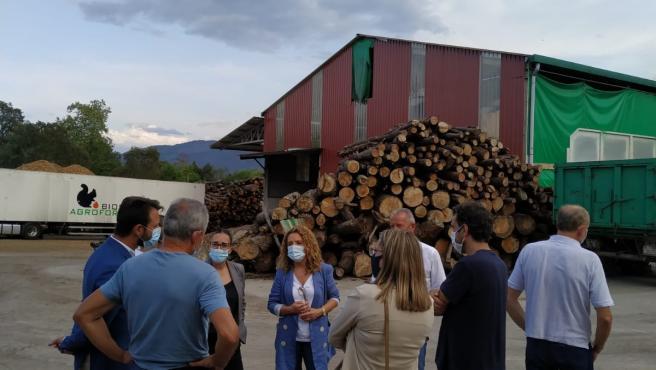 Visita Del Grupo Parlamentario Popular, Con La Portavoz Teresa Mallada A La Cabeza, A La Empresa Agroforestal Nava.