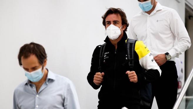 Fernando Alonso, en la sede de Renault F1