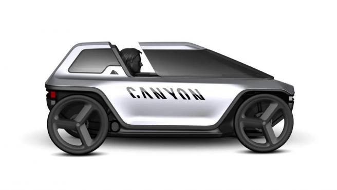 El coche eléctrico a pedales de Canyon.