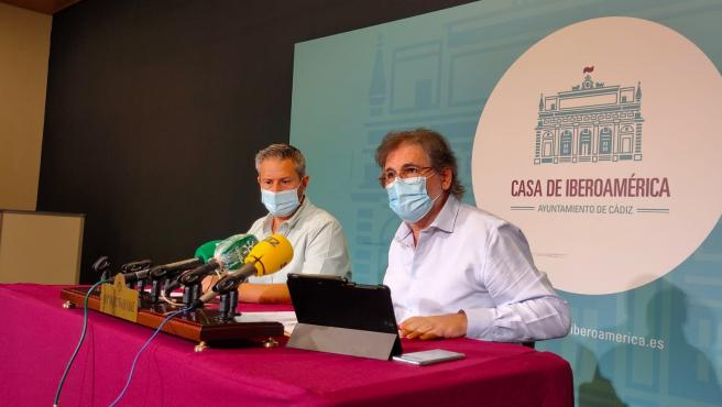 El concejal de Fomento, Carlos Paradas, en rueda de prensa