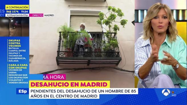 El programa de Espejo público cubre en directo el desahucio de Paco, un señor de 85 años.