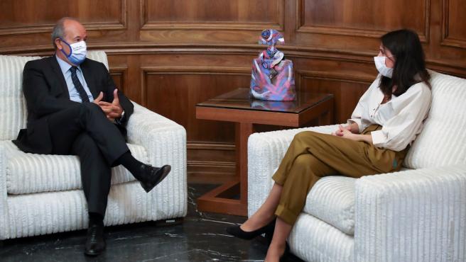La ministra de Igualdad, Irene Montero, y el ministro de Justicia, Juan Carlos Campo.
