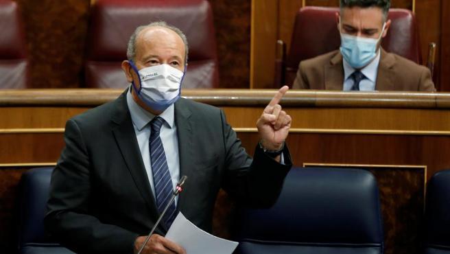 El ministro de Justicia, Juan Carlos Campo, este miércoles.