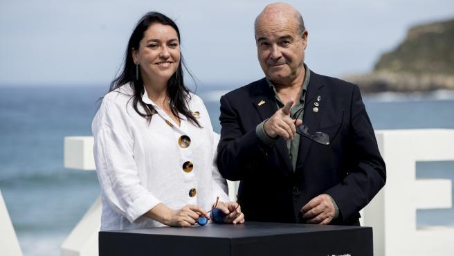 Antonio Resines y Ana Perez Lorente en la 67.ª edición del Festival de Cine de San Sebastián.