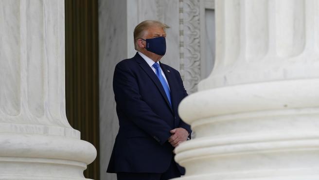 Donald Trump, este jueves en el Tribunal Supremo.