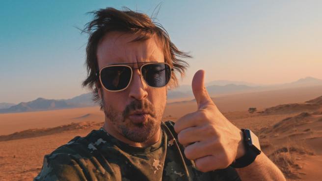 Fernando Alonso, durante la grabación de su serie documental