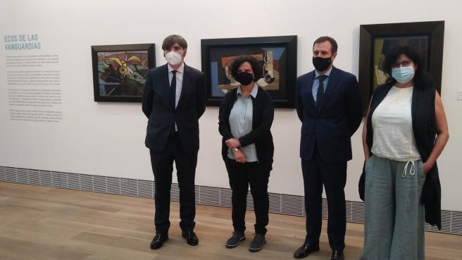 Inauguración de la exposición en el Museo de Bellas Artes de Asturias.