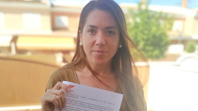 La portavoz de Ciudadanos en el Ayuntamiento de San Juan de Aznalfarache, Fátima Manchado