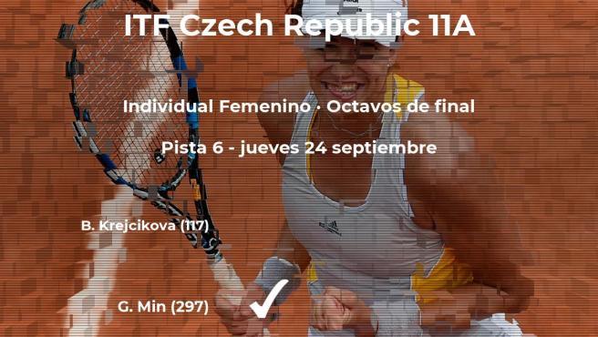 La tenista Grace Min consigue clasificarse para los cuartos de final a costa de Barbora Krejcikova
