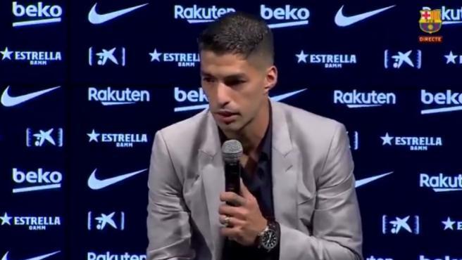 Luis Suárez se despide del Barça.