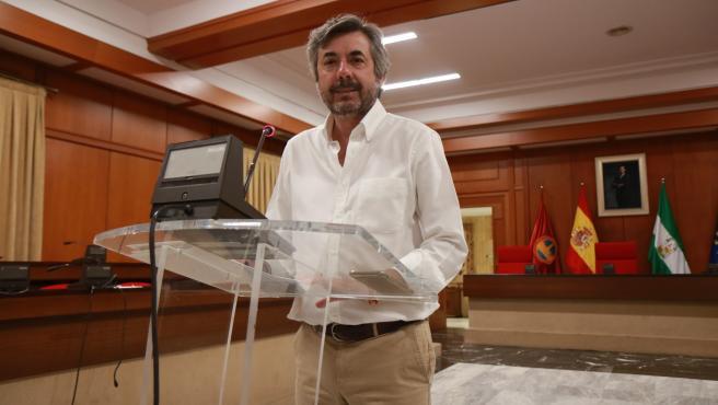 Miguel Ángel Torrico en el Ayuntamiento de Córdoba.