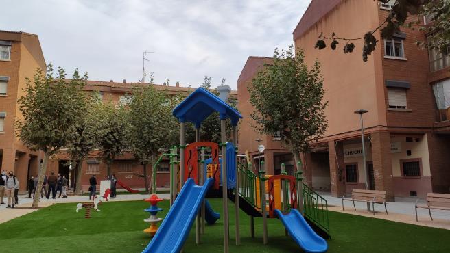 Nueva zona infantil en el barrio de Buenos Aires de Salamanca.