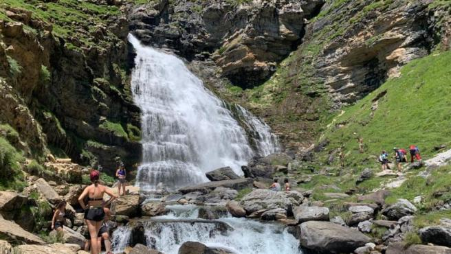 The Cola de Caballo waterfall in Ordesa National Park