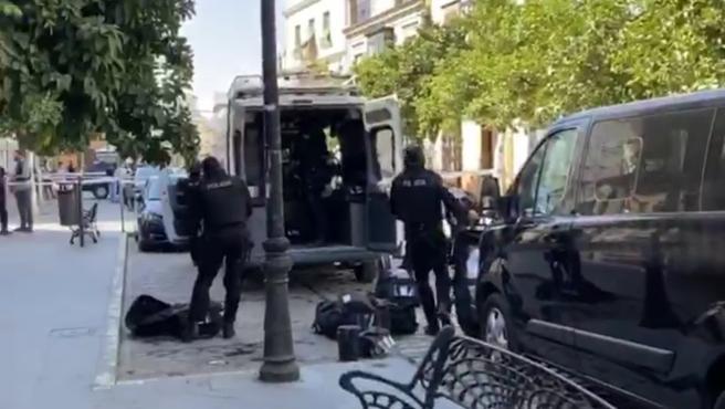 Despliegue policial en Coria por un varón atrincherado